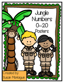 Jungle Theme Number Posters 0-20