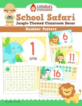 Number Posters - Safari Theme