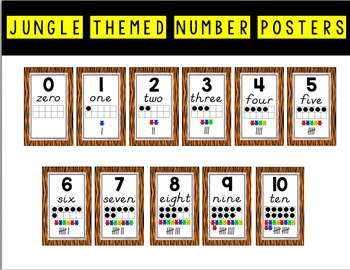 Jungle Theme Numbers 0-10 FREEBIE