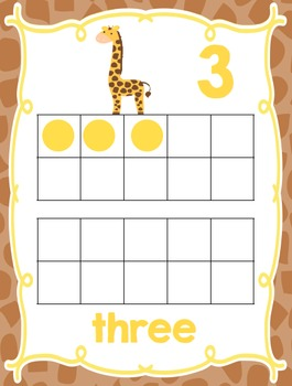 Jungle Theme Numbers {Classroom Decor Posters}