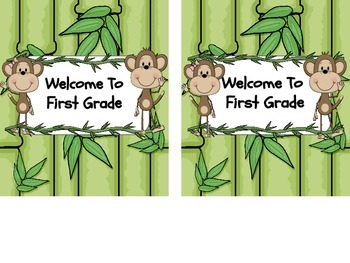 Jungle Theme Open House Hershey's Candy Bar Wrapper Zebra and Monkey