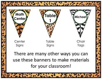 Jungle Theme Banners Editable! Jungle Themed Classroom Decor