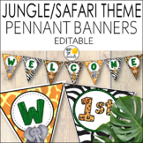 Jungle Theme Banners Editable! Jungle Themed Classroom Decor