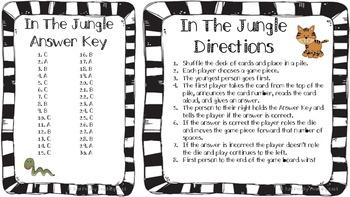 L.4.1.e Preposition Game- In the Jungle