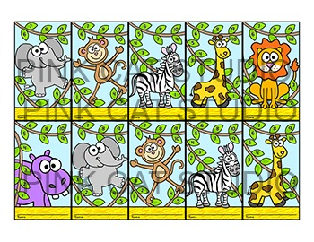Jungle Theme Punch Cards