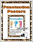 Jungle Theme Classroom Decor - Punctuation Grammar Posters