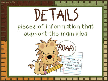Jungle Theme Reading Comprehension Posters