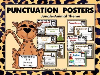 Jungle Theme Reading/Language Arts Poster Bundle