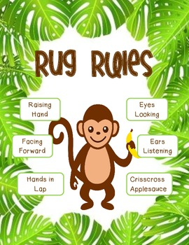 Jungle Theme Rug Rules