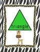 Jungle Theme Shape Posters