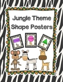 Jungle Theme Shape Posters