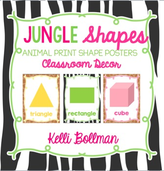 Jungle Theme Shape Posters {Classroom Decor}