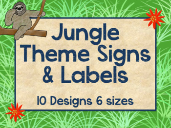 Jungle Theme Signs and Labels (Editable)
