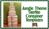 Jungle Theme Sterilite Container Templates