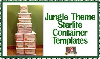 Jungle Theme Sterilite Container Templates