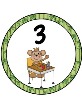 Jungle Theme Table Numbers 1-7