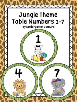Jungle Table Numbers 1-7