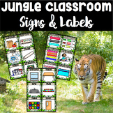 Jungle Theme Classroom Signs ~ Labels, Table Signs, and More!
