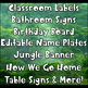 Jungle Theme Classroom Signs  Labels, Table Signs, and More!
