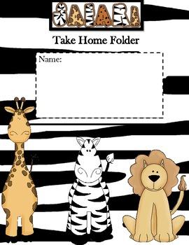 Jungle Theme-Take Home Folder Cover