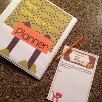 Jungle Theme Teacher Lesson Planner