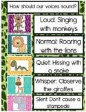Jungle Theme Voice Level Classroom Poster Chart