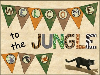Jungle Theme Welcome Banner