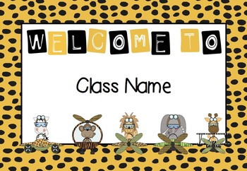 Jungle Theme - Welcome Signs