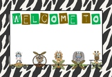 Jungle Theme - Welcome Signs - Editable - Back to School