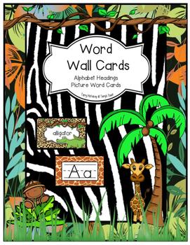 Jungle/Safari/Zoo Theme Word Wall