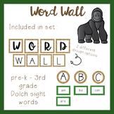 Jungle Theme Word Wall - Editable