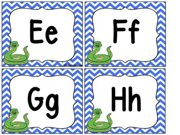 Jungle Theme Word Wall Letters A-Z