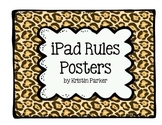 Jungle Theme iPad Rules Posters