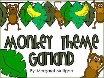 Jungle Theme or Monkey Theme Garland