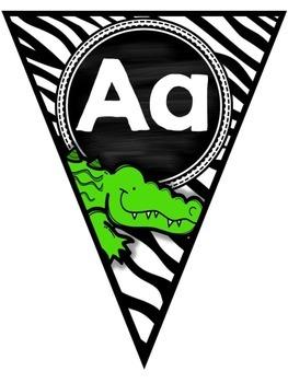 Jungle Themed Alphabet Banner