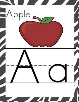 Jungle Themed Alphabet Cards