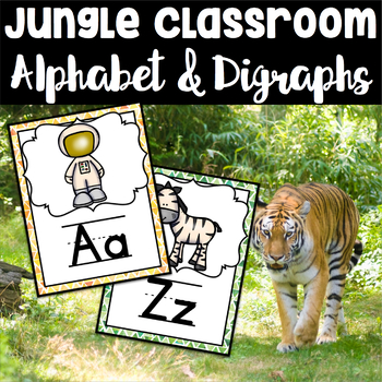 Jungle Theme Alphabet Set With 24 Digraphs and Blends