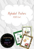 Jungle Themed Alphabet posters NSW Font