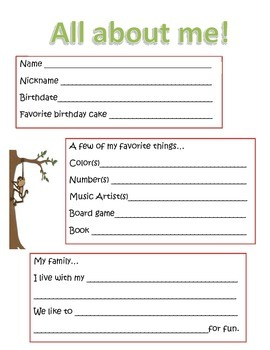 Jungle Themed Back to School Activities