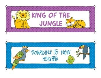 Jungle Themed Behavior Chart