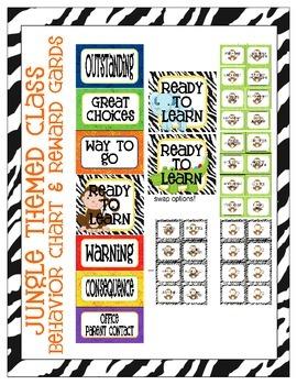 Jungle Themed Behavior Clip Chart