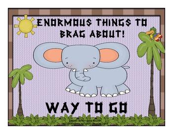 Jungle  Themed Behavior Management Signs