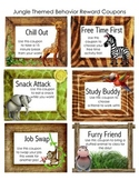 Jungle Themed Behavior Reward Coupons