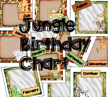 Jungle Themed Birthday Charts