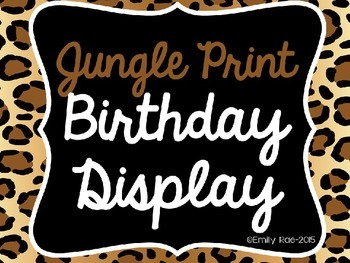 Jungle Themed Birthday Display EDITABLE