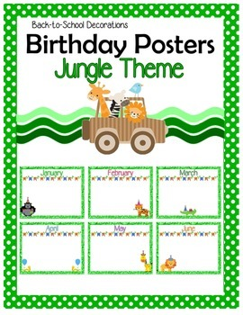 Jungle Themed Birthday Posters