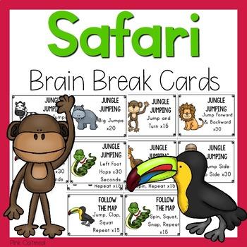 Safari and Jungle Themed Brain Breaks