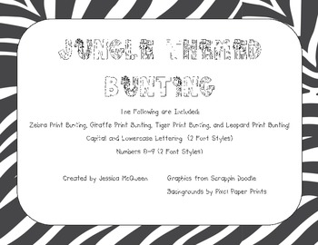 Jungle Themed Bunting