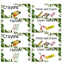 Jungle Themed Caddy Labels