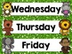 Jungle Themed Calendar Months and Days of the Week!